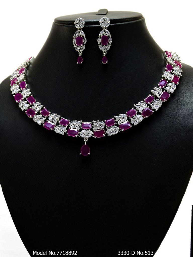Classic yet Trendy | Cz Fashion Necklace Set