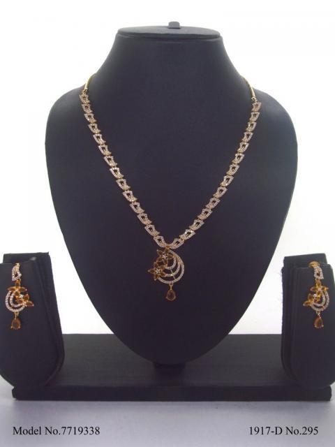 American Diamond Necklace Set   Wonderful Gift Item