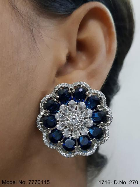 Statement Earrings with AD stones