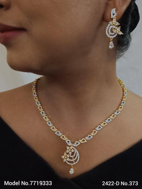 Made in India   Cz Necklace Set