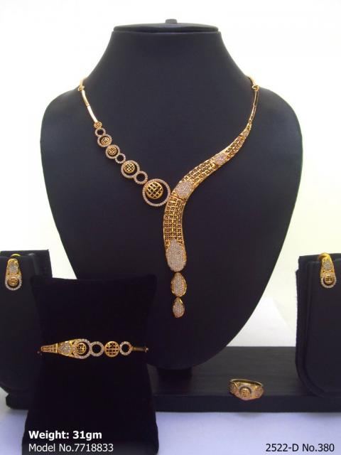 Light weighted CZ Necklace Set