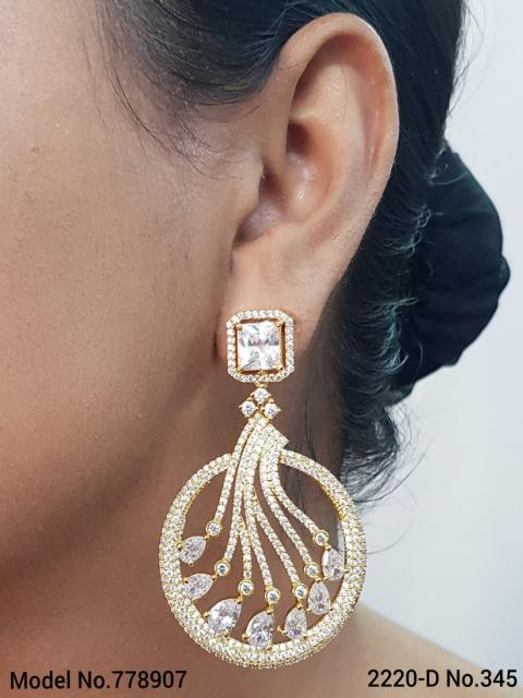 Original Zircon Long Earrings