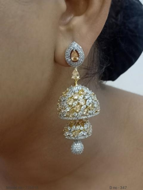 Indian CZ Earrings