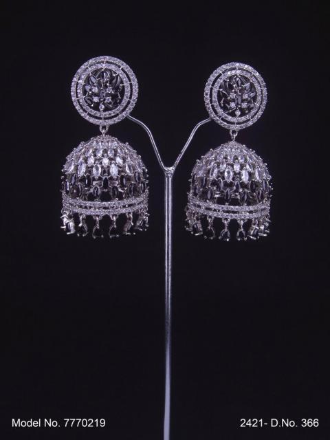 CZ Jhumka Earrings