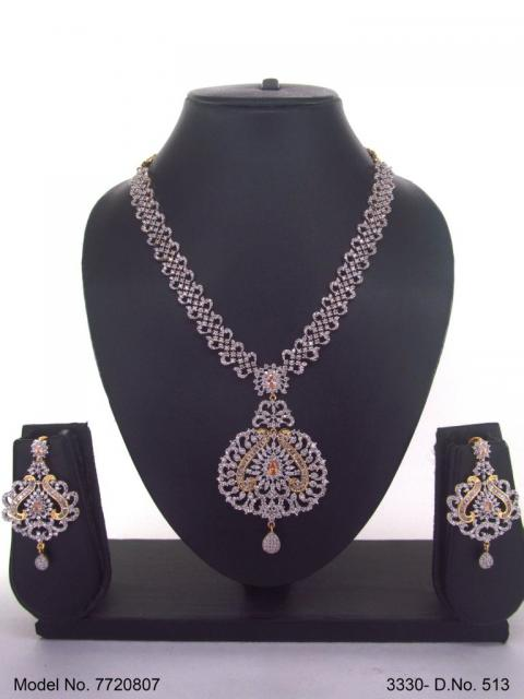 Artificial Diamond Cz Jewelry Set
