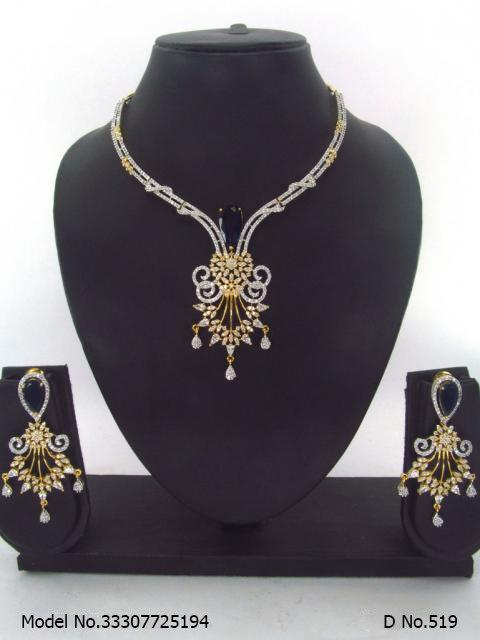 Traditional Design | American Diamond Jewelry Set