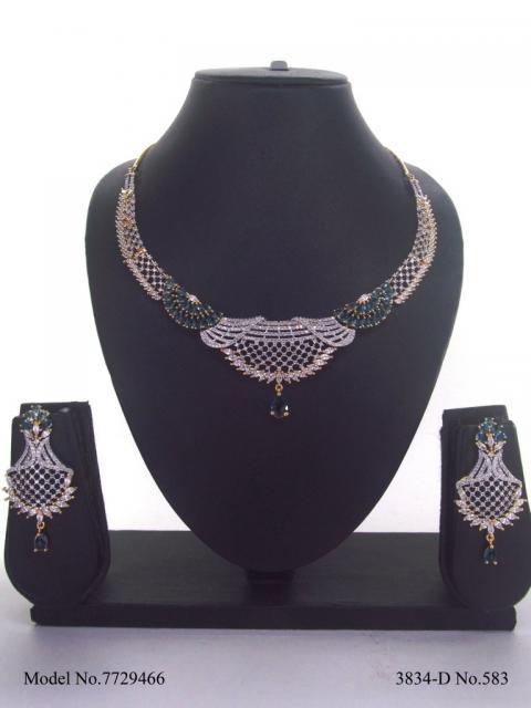 Handmade Traditional Masterpiece Zircon Jewelry Set