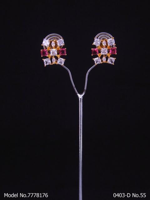 Cubic Zirconia Party Wear Studs Fashion Jewelry
