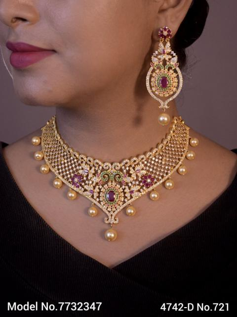 Real Zircon Fashion Jewelry Set