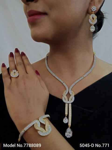 Imitation Diamond Cz Jewelry Set