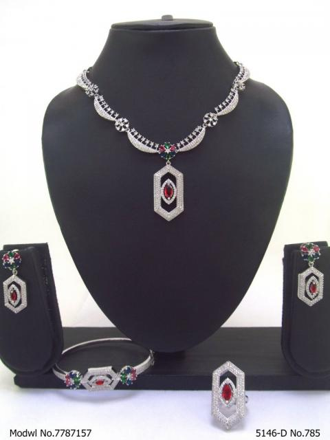 Handmade Traditional Masterpiece Zircon Jewelry Set