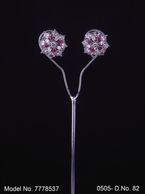 Artificial Jewelry   Earring Tops cubic zircon