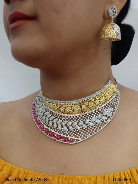 CZ Choker Necklace Collection