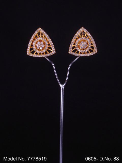 Original Zircon   AAA Star cut Stud AD Jewelry