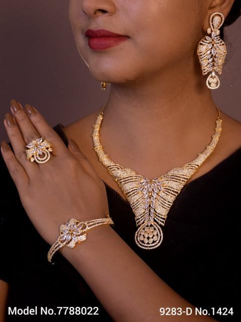 Fashion Necklace Set | Artificial Diamonds / Zircons