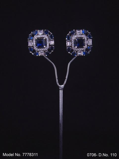 Cubic Zirconia Non-Dangling earrings
