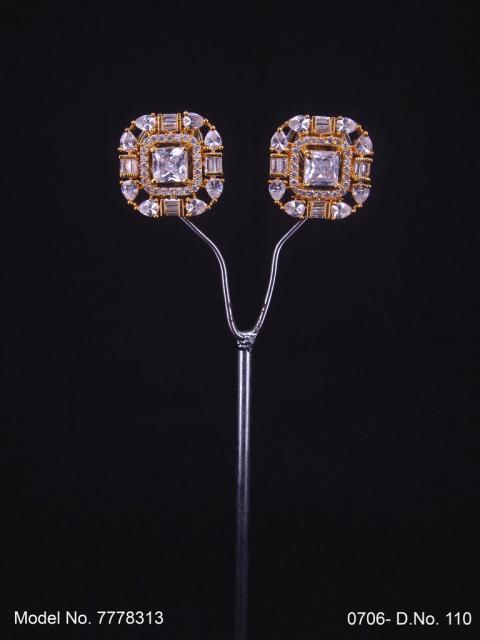Glorious Stud Zircon Earring with AD stones