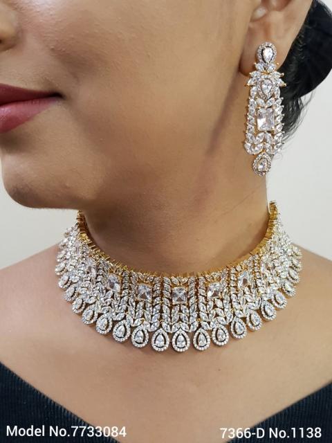 Artificial Diamond Jewelry Set for Brides