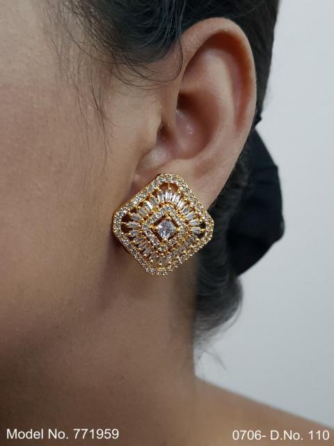 Popular Indian Handmade cz stud| top Earrings