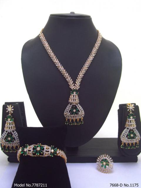 Imitation Diamond Cz Jewelry Set
