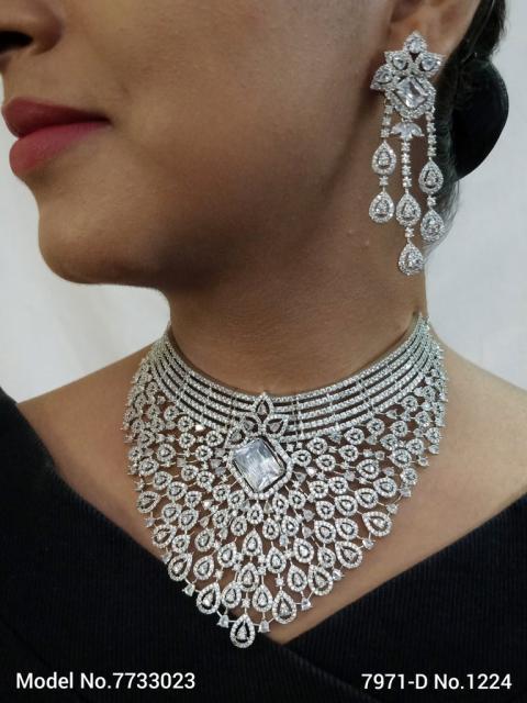 American Diamond Handcrafted Jewelry Set