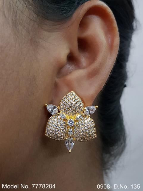 American Diamond Studs for a party