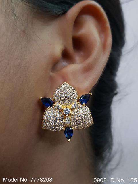 Ethnic Cubic Zirconia Earrings