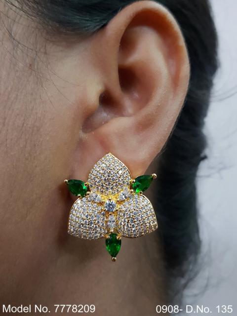 Handcrafted zircon Studs | Royal Taste