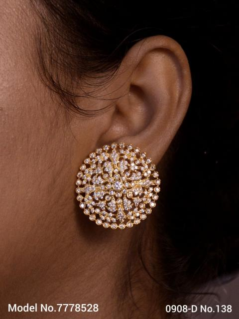Popular Indian Handmade cz stud  top Earrings