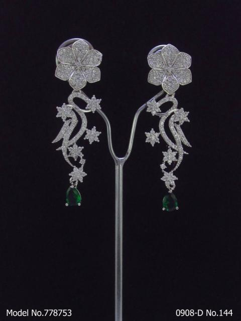 Medium CZ Earrings