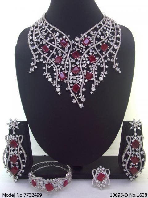 Cz Necklace Set   Original Zircons