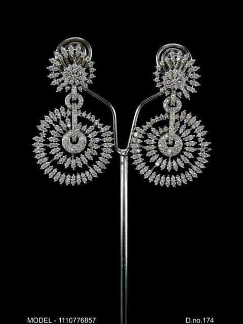 Medium CZ Earrings