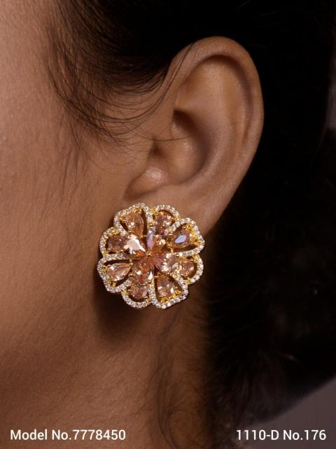 Pure handcrafted Studded Zircon | Fashion Studs