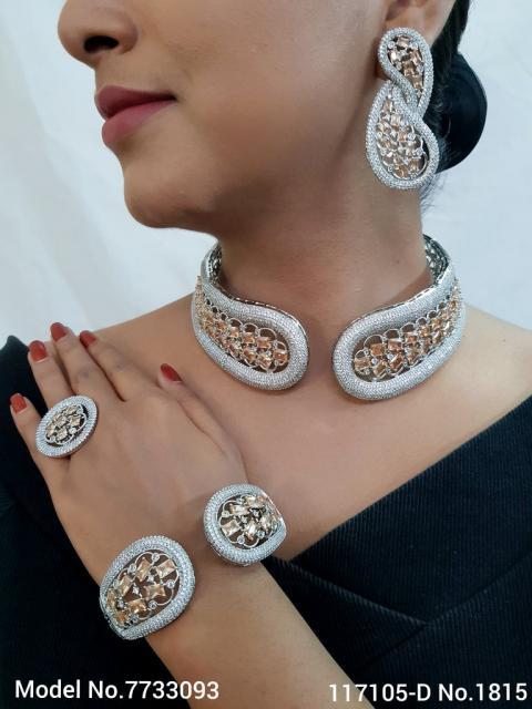 Real Zircon Fashion Jewelry Set