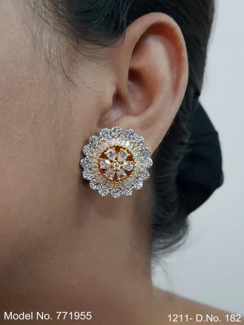Light weighted Zircon stud earrings| Inexpensive Earrings