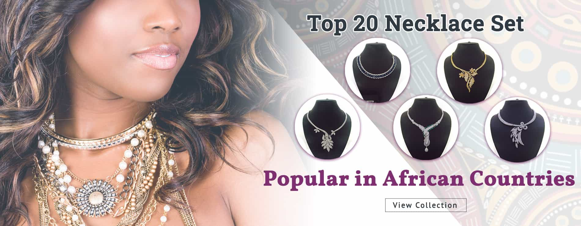 Our creations of Necklace Set Designs that are Popular In African Countries.