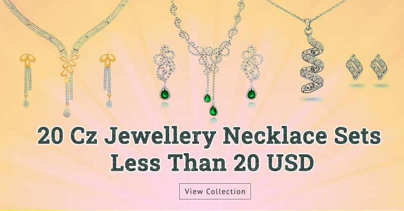 Cubic Zirconia Jewellery Necklace Sets Less Than 20 USD