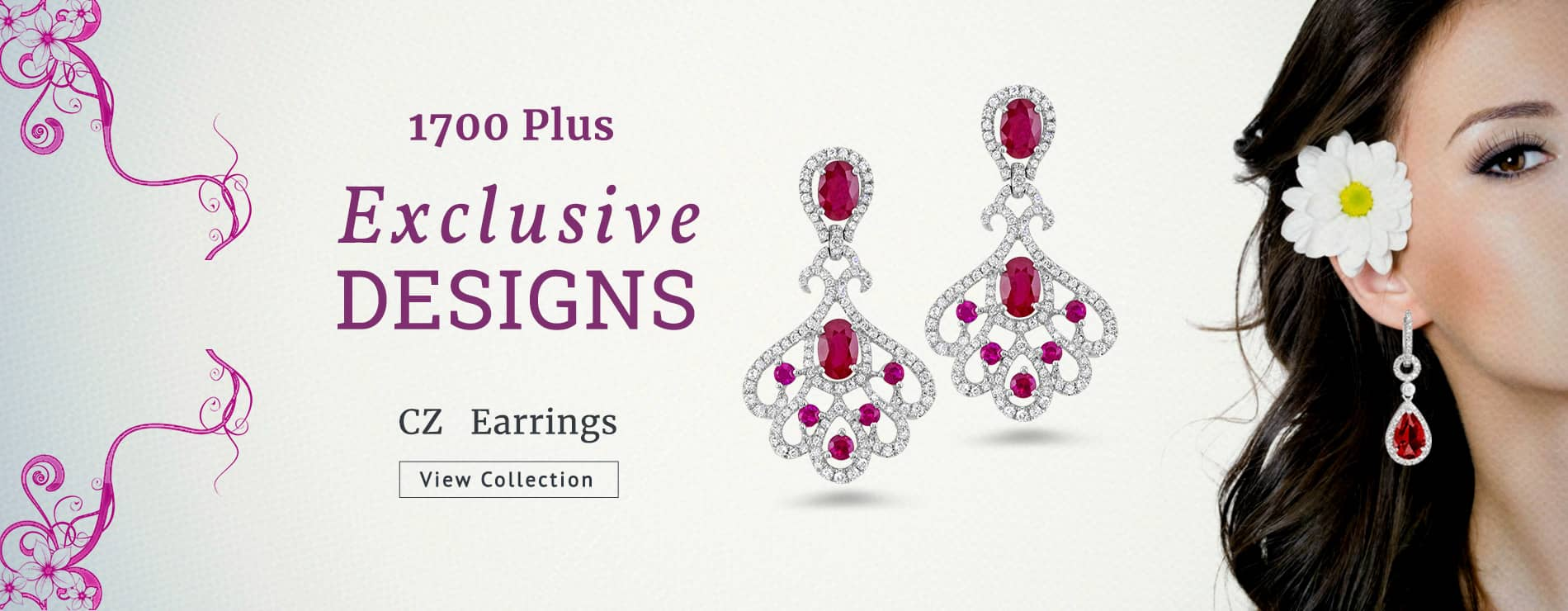 1700 Plus Exclusive Designs Cubic Zirconia Earrings