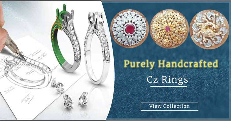Purely Handcrafted Cz Rings